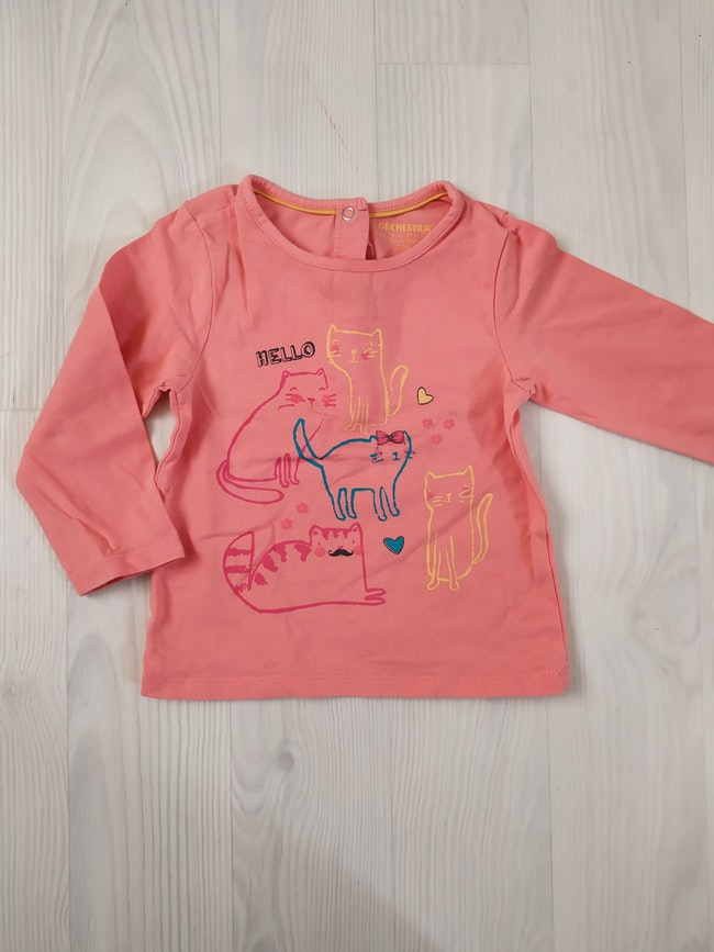 Sous pull corail Orchestra 18m
