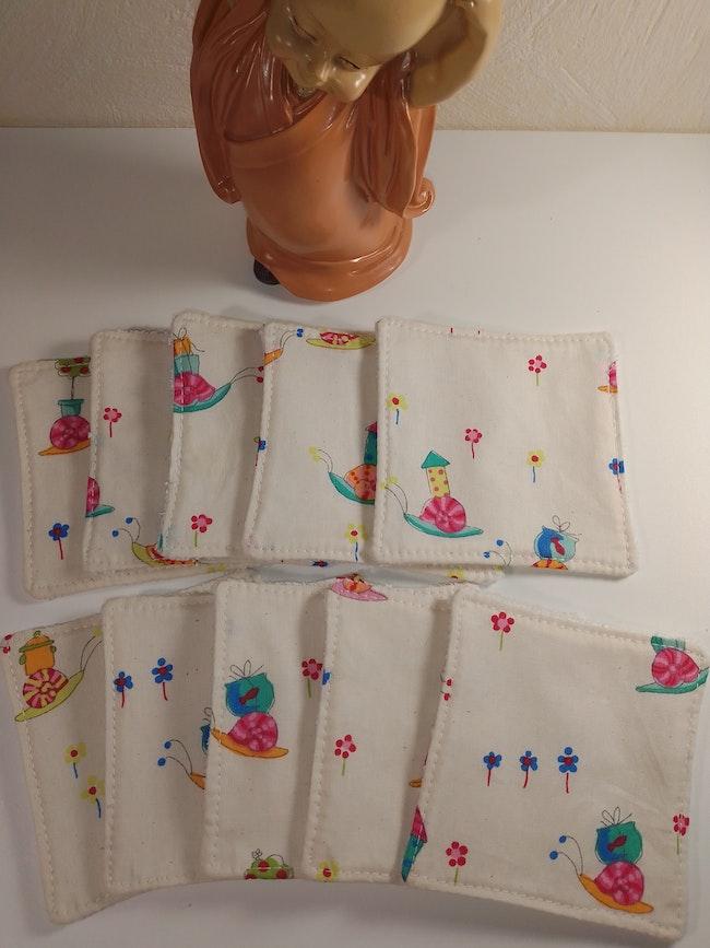Lingettes lavables et réutilisables