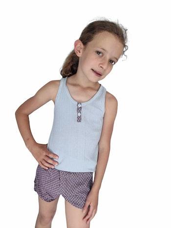 8 ans fille ensemble été pyjama short