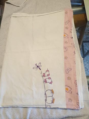 Drap plat, 80x110 cm, coton