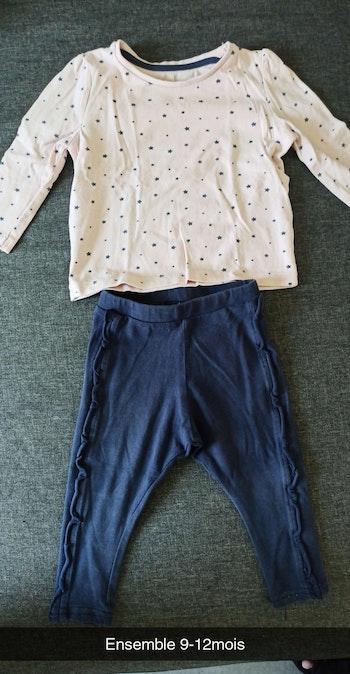 Ensemble t-shirt legging 9-12mois