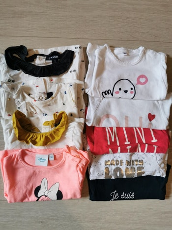 Lot de 9 tee shirt filles