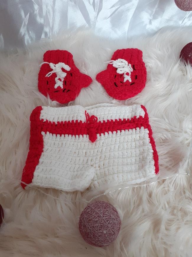 Costume box rouge et blanc