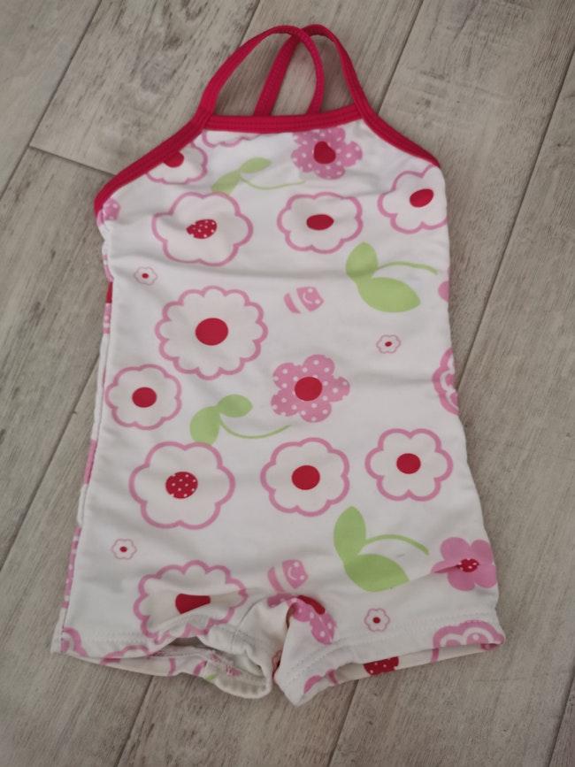 Maillot de bain short beachwear 23 mois rose