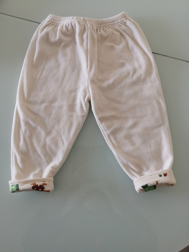 Pantalon velours crème