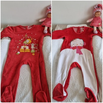 2 pyjamas thème Noël 🎅 18 mois