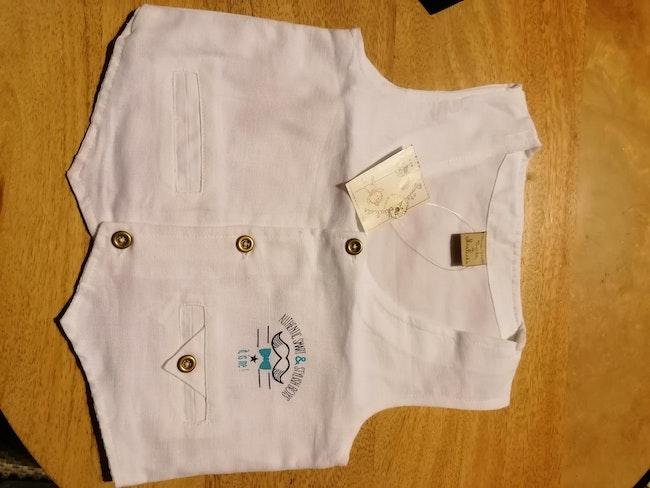 Gilet de costume blanc 18 mois