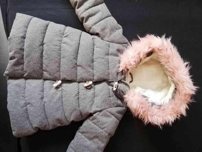 Manteau fourré fille