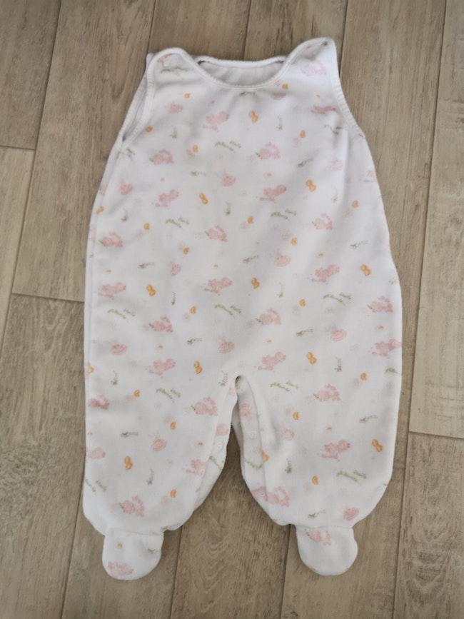 Pyjama velours salopette 6 mois