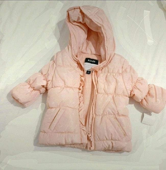 Doudoune rose bebe fille