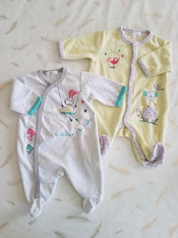 Lot 2 pyjamas 1mois