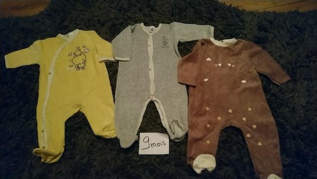 Lot de 3 pyjamas