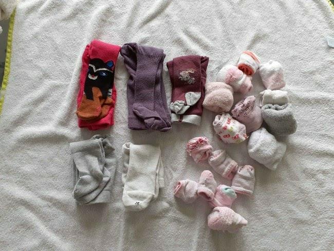 Lot collants et chaussettes