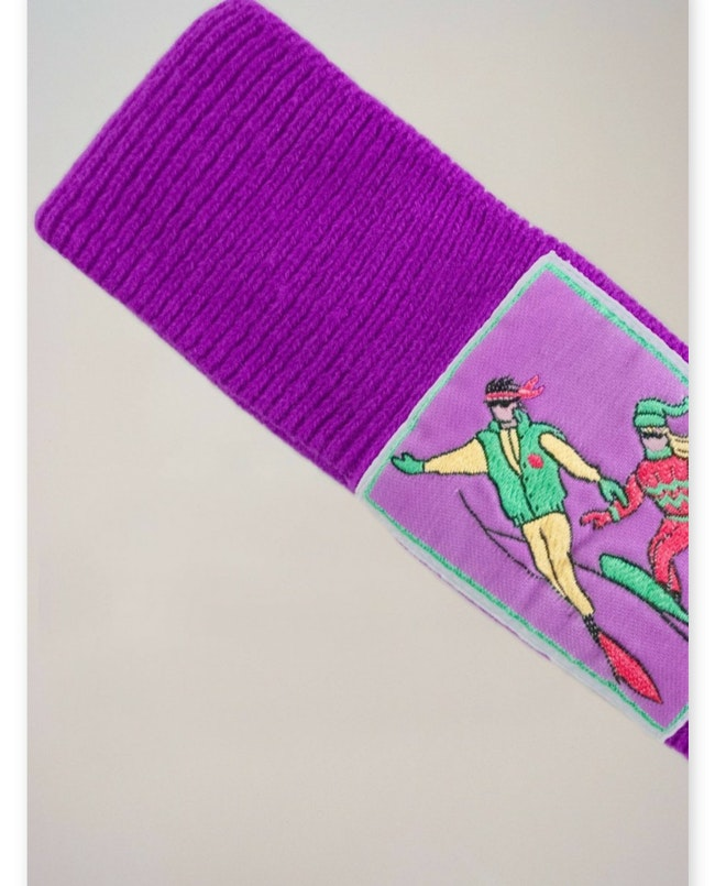 Bandeau violet ski