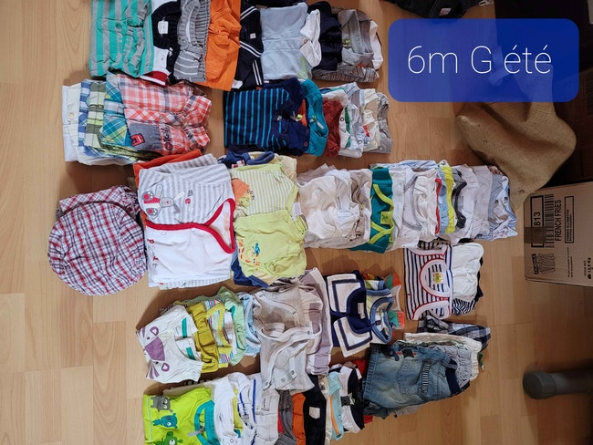Vêtements  6 mois garçon 90euros le lot