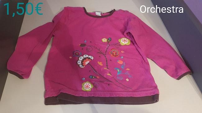 Tee-shirt fleurs 24mois