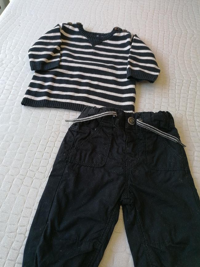 Ensemble pantalon + pull 1 mois