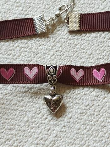 Petit collier fillette taille 6-7-8 ans petit coeur tour de cou
