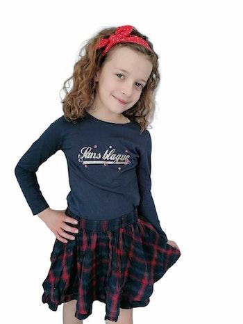 6 ans fille ensemble tape à l'oeil t-shirt et jupe