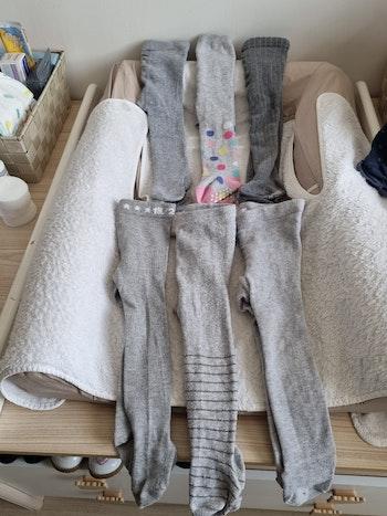 Lot de 6 collants gris 6/12 mois