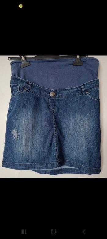 Jupe en jeans grossesse avec bandeau