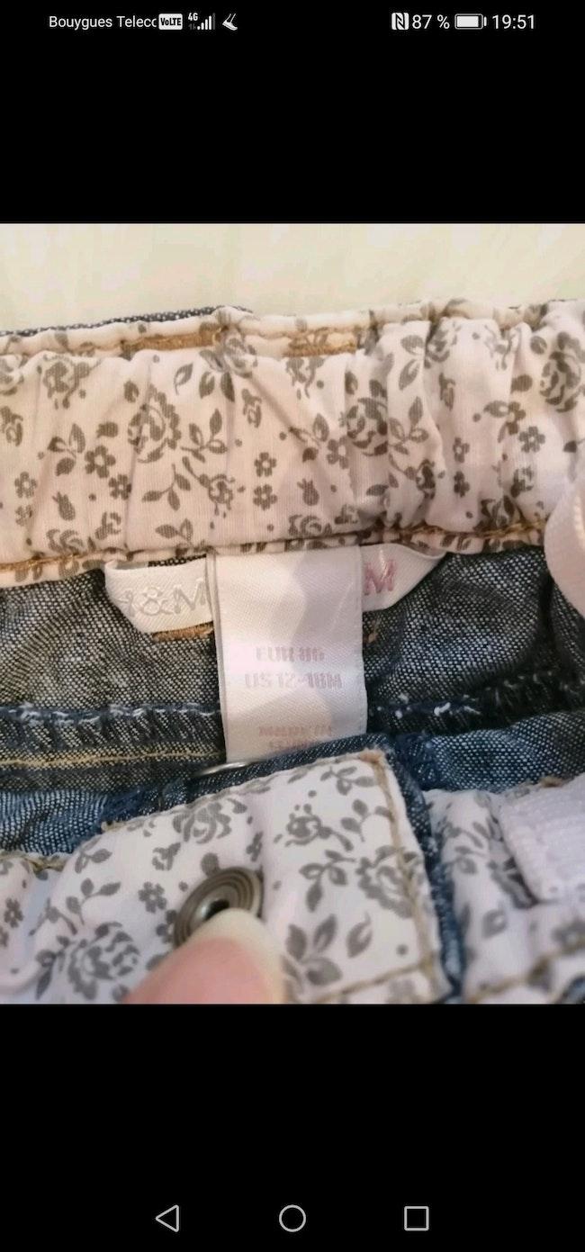 Jupe jean bébé fille h&m 12 /18 mois.