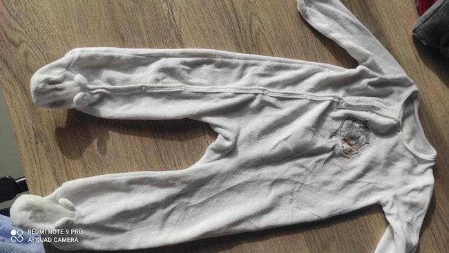 Pyjama hibou mixte blanc 24 mois