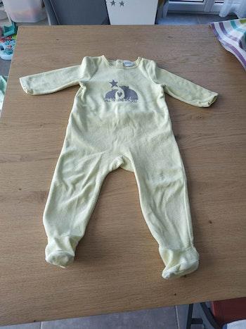 Pijama 12 mois jaune tao