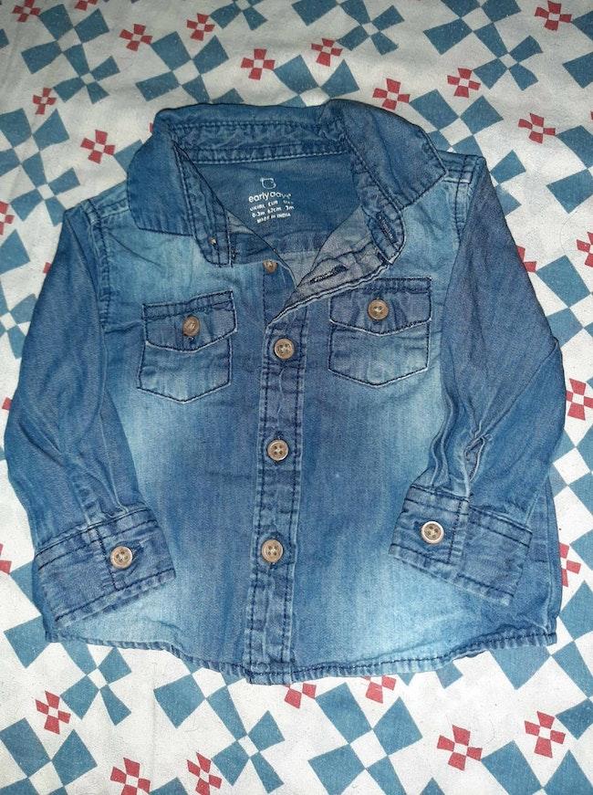 Chemise en jeans petit garçons