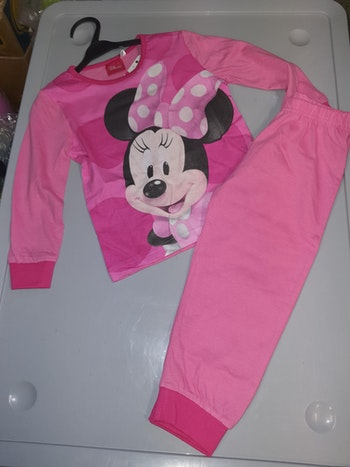 Pyjama minnie rose clair 8 ans