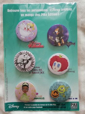 Lot 6 badges Disney neuf