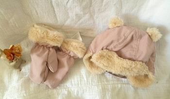 Ensemble chapka gants h&m