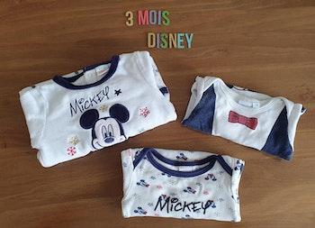 Lot de 3 vêtements Mickey 3mois