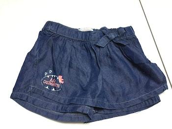 Jupe short jean lulu castagnette 24 mois