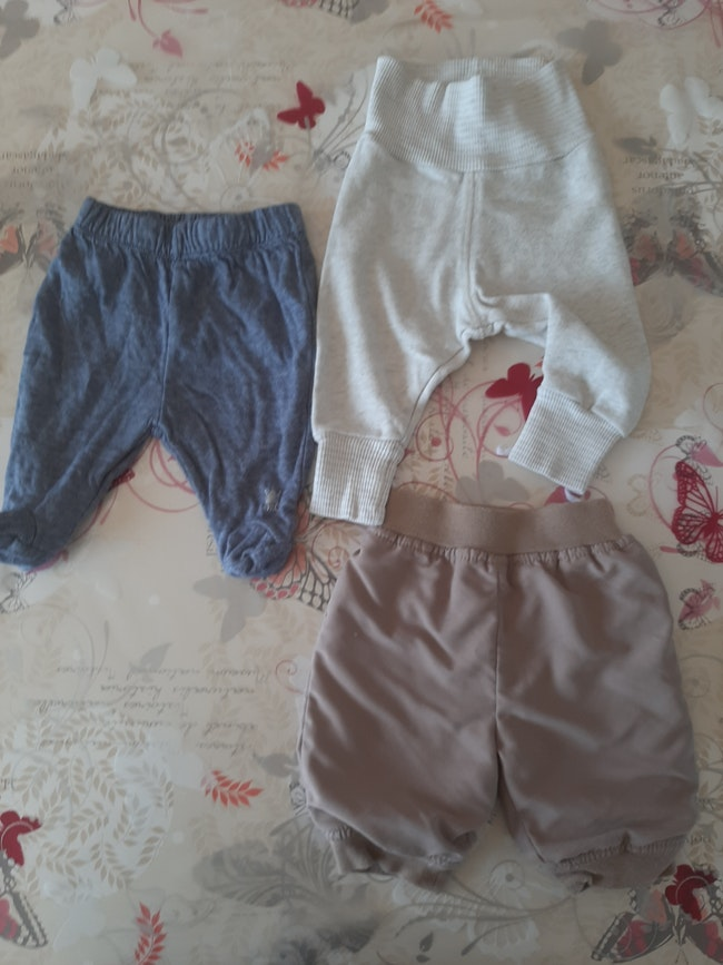 Lot de 3 pantalon 1 mois garcon