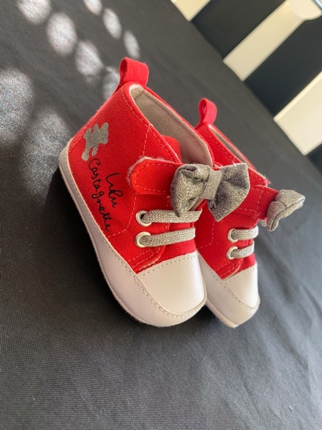 Chaussures Lulu Castagnette rouge 3/6 mois