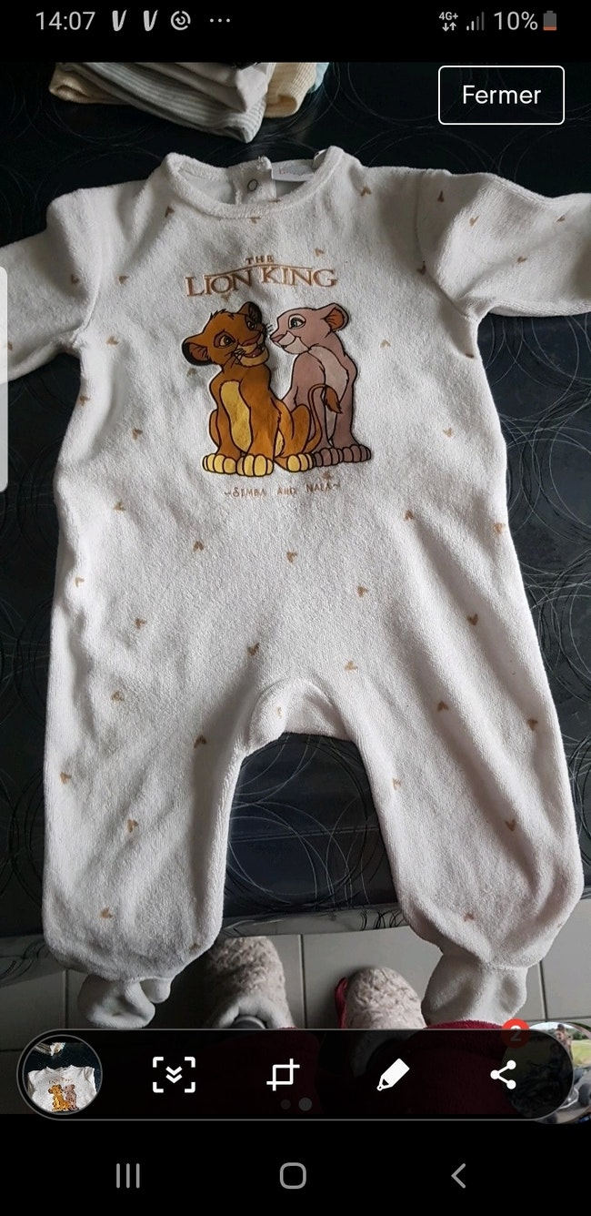 Pyjamas sympa et nala Disney