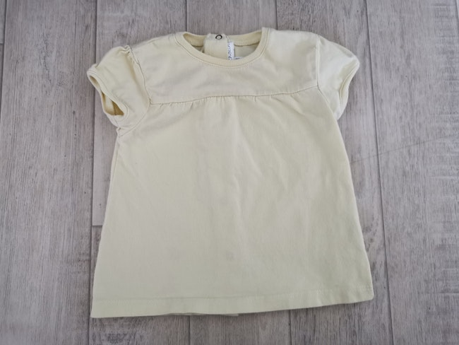 T shirt jaune pâle kitchoun 9 mois
