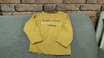 """T-shirt manches longues """" je suis ta petite bouille d'amour """""""