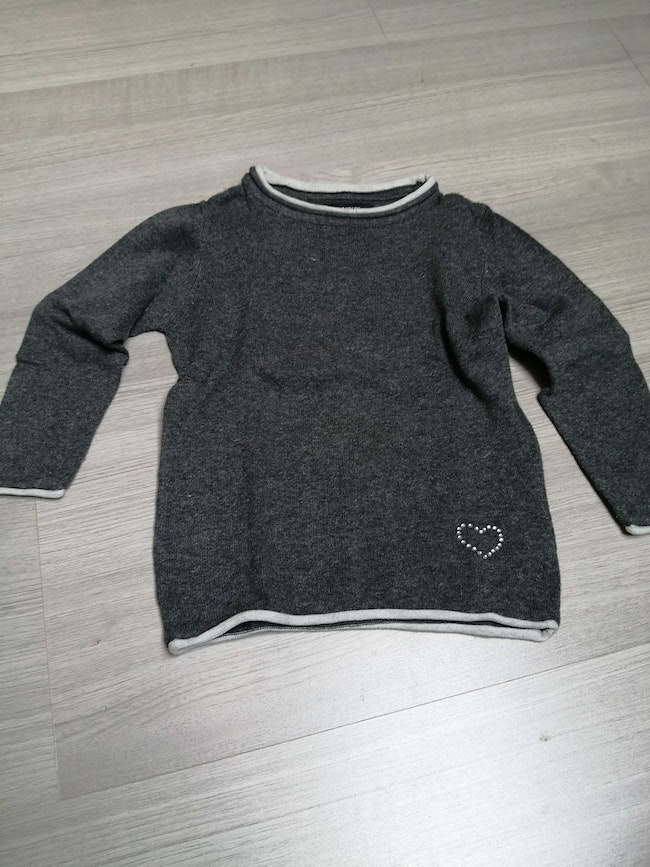 Pull gris 24 mois