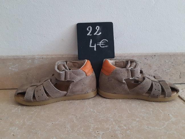 Sandales cuir garçon