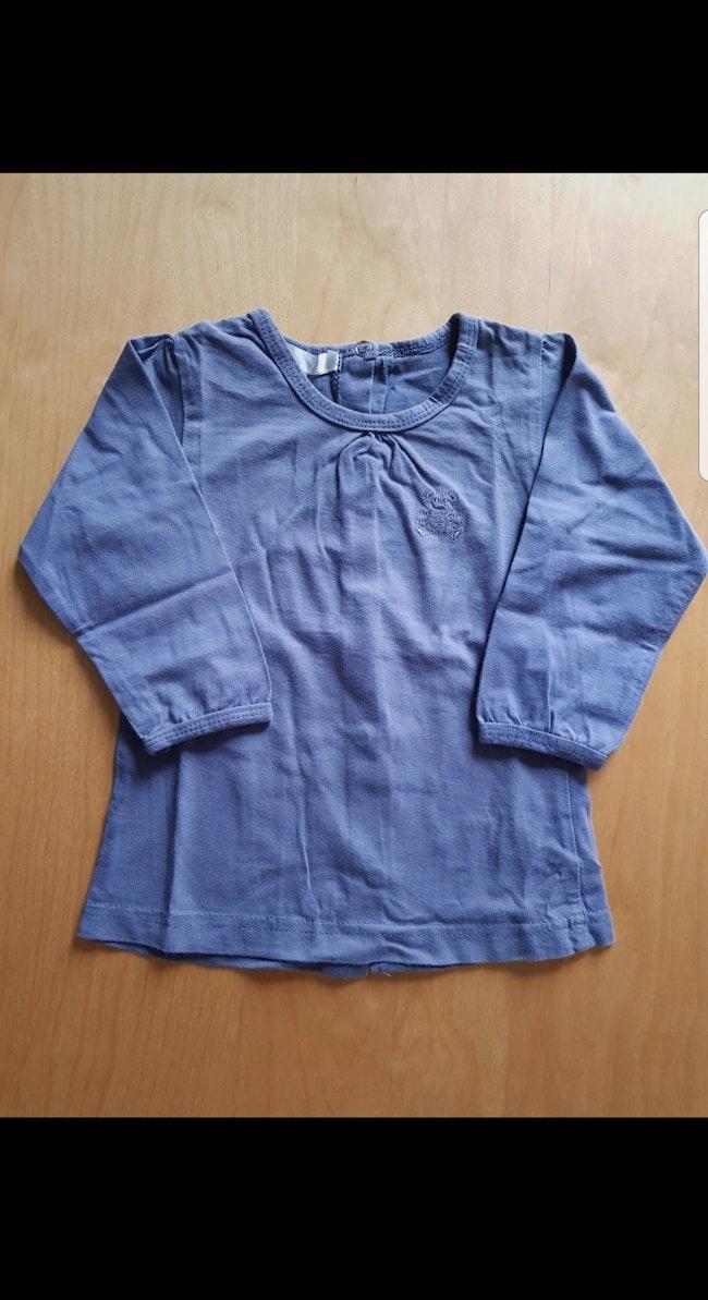 T-shirt manches longues enfant fille 18 mois