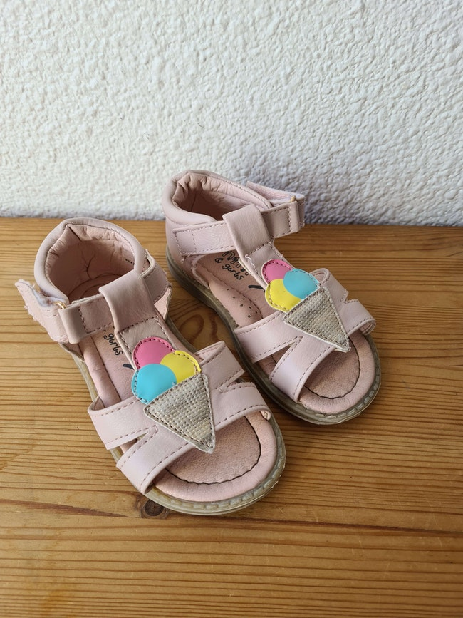 sandales rose glace Nini & girls