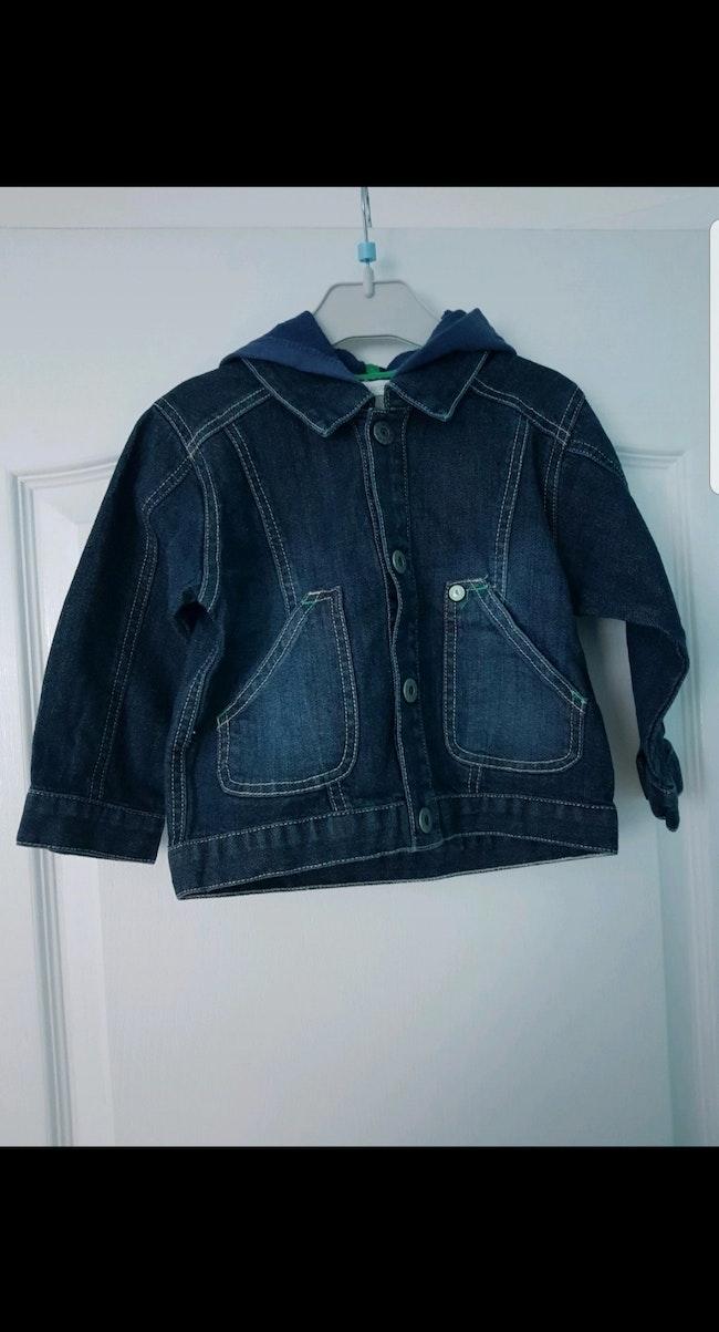 Veste en jean à capuche enfant garçon 2 ans