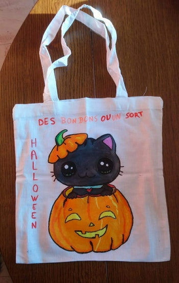 Petit tote bag spécial halloween