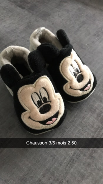 Chausson Mickey 3/6 mois