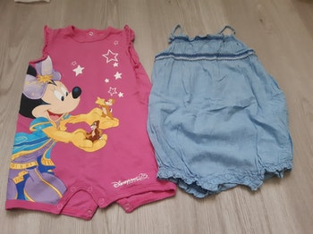 Combishorts fille 6 mois