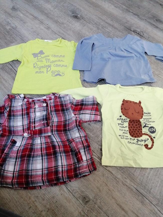 4 tee shirts ML