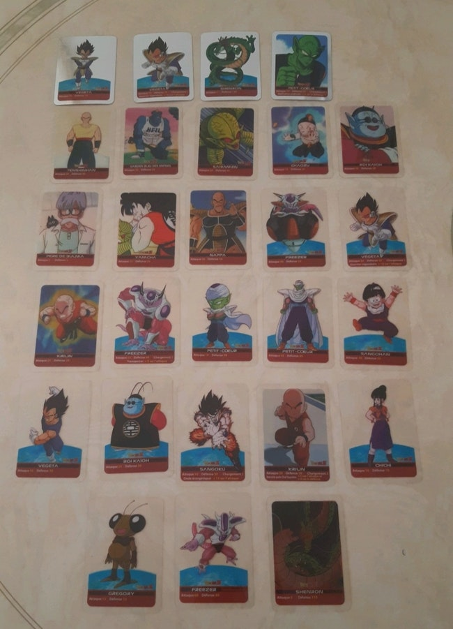 "Lot cartes ""Dragon Ball"""