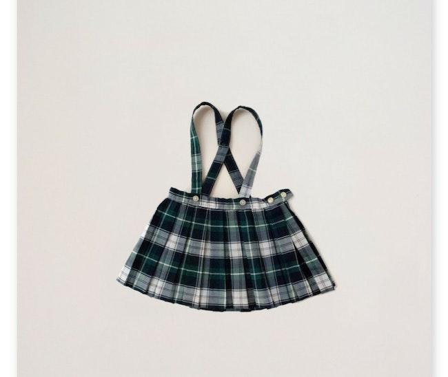 Jupe motif écossais à bretelles / 18-24 mois
